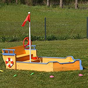 Abbildung 3: Sandkasten mit Abdeckung als Boot
